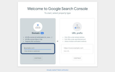 How to create a Google Search Console account, verify the domain and add users